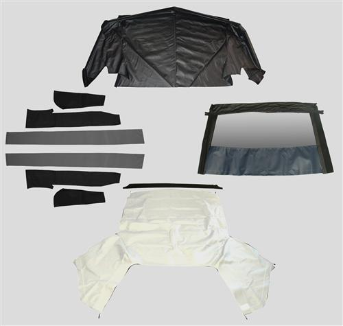 Mustang White Convertible Top Kit (83-90)