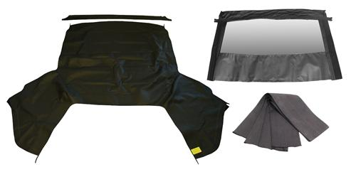 Mustang Black Convertible Top Kit with Defrost (01-04)