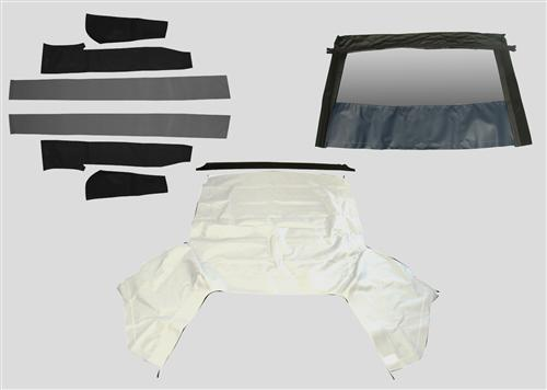 Mustang Economy White Convertible Top Kit (91-93)