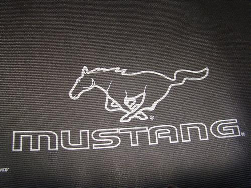Mustang Fender Gripper Trunk Mat  with Silver Pony Logo  (94-04) Coupe