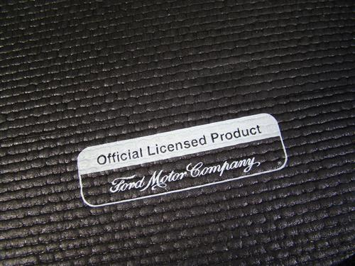 Mustang Fender Gripper Trunk Mat  with White Cobra Logo  (94-04) Coupe