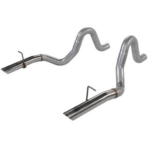 "Flowmaster Mustang 3"" Tailpipes with Stainless 3"" Tips (86-93) LX-GT-Cobra  5.0"