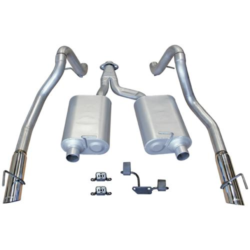 99-04 MUSTANG 3.8/3.9L V6 FLOWMASTER FORCE II CAT BACK EXHAUST SYSTEM - 99-04 MUSTANG 3.8/3.9L V6 FLOWMASTER FORCE II CAT BACK EXHAUST SYSTEM