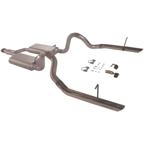 94-97 MUSTANG 3.8L V6 FLOWMASTER FORCE II CAT BACK EXHAUST SYSTEM - 94-97 MUSTANG 3.8L V6 FLOWMASTER FORCE II CAT BACK EXHAUST SYSTEM
