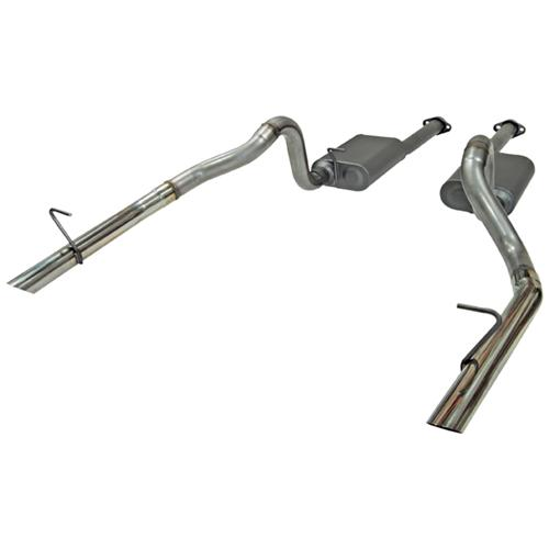 Flowmaster Mustang American Thunder Stainless Cat Back Exhaust Kit  (86-93) LX 5.0