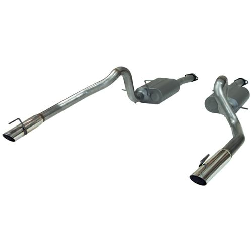 Flowmaster Mustang American Thunder Stainless Cat Back Exhaust Kit  (99-04) GT-Mach 1