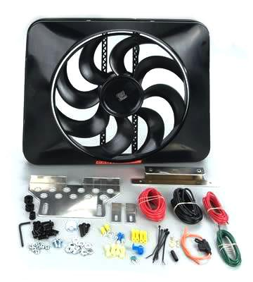 1979-93 Mustang 5.0L Black Magic Xtreme Electric Fan Kit - 1979-93 Mustang 5.0L Black Magic Xtreme Electric Fan Kit