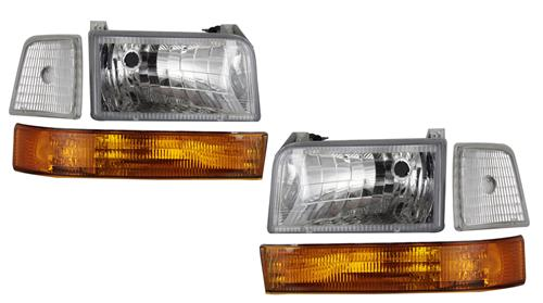 F-150 SVT Lightning Clear Diamond Headlight Kit (93-95) - F-150 SVT Lightning Clear Diamond Headlight Kit (93-95)
