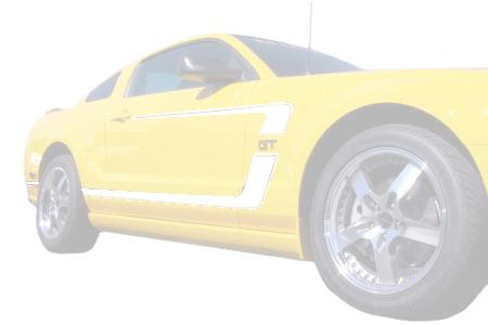 Mustang Boss Reverse 'C' Stripe Kit (GT) White (05-09)