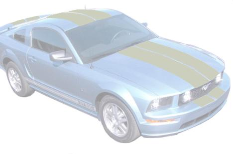 Mustang Lemans Stripe Kit Silver (05-09)