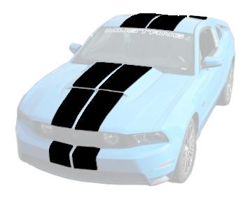 Mustang Lemans Stripes (Hardtop) Black (10-12)