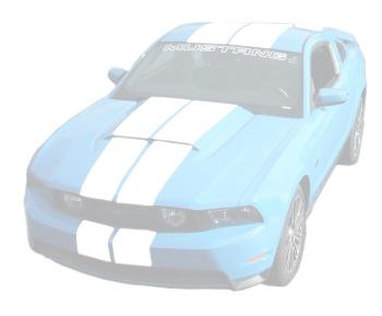 Mustang Lemans Stripes (Hardtop) White (10-12)