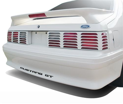 Mustang GT Rear Bumper Insert Decals Black (87-93)