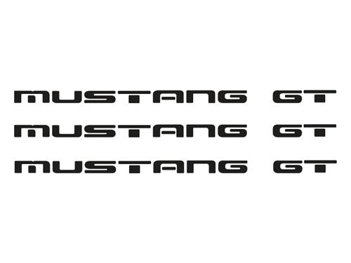 1987-93 Mustang GT Rear Bumper Insert Decals, Black Also Fits GT Ground Effects - picture of 1987-93 Mustang GT Rear Bumper Insert Decals, Black Also Fits GT Ground Effects