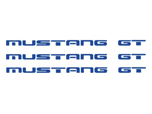 1987-93 Mustang GT Rear Bumper Insert Decals, Blue Also Gits GT Ground Effects - picture of 1987-93 Mustang GT Rear Bumper Insert Decals, Blue Also Gits GT Ground Effects