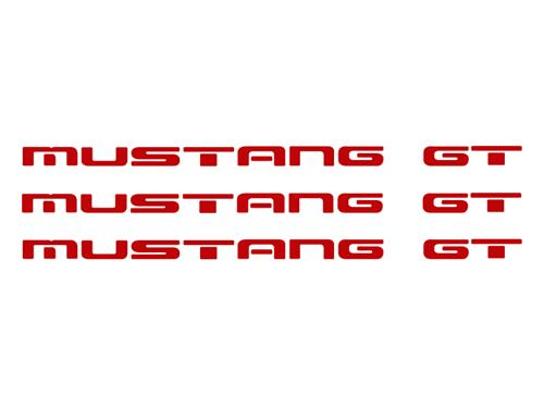1987-93 Mustang GT Rear Bumper Insert Decals, Red  Also Fits GT Ground Effects - picture of 1987-93 Mustang GT Rear Bumper Insert Decals, Red  Also Fits GT Ground Effects