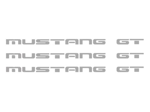 1987-93 Mustang GT Rear Bumper Insert Decals, Sliver       Also Fits GT Ground Effects - picture of 1987-93 Mustang GT Rear Bumper Insert Decals, Sliver       Also Fits GT Ground Effects