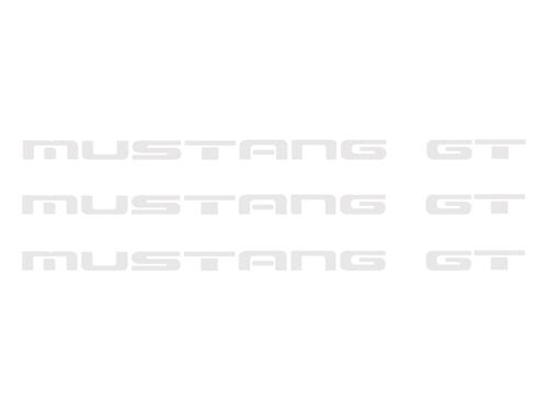 1987-93 Mustang GT Rear Bumper Insert Decals, White        Also Fits GT Ground Effects