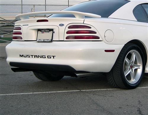 Mustang Rear Bumper Insert Decals Red (94-98)