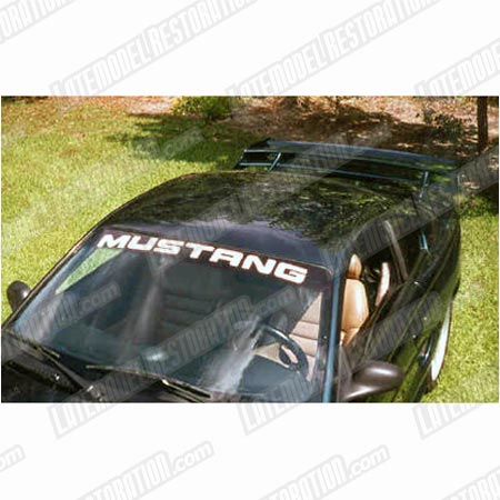 Mustang Windshield Banner White (94-04)
