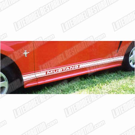 Mustang Side Stipes White  (79-04)