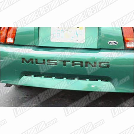 Mustang Rear Bumper Insert Decals White (99-04)
