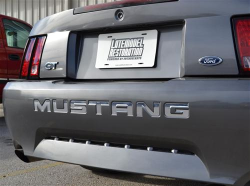 Mustang Rear Bumper Insert Decals Chrome (99-04)