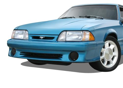 Mustang Smoked Fog Light Covers (87-93)