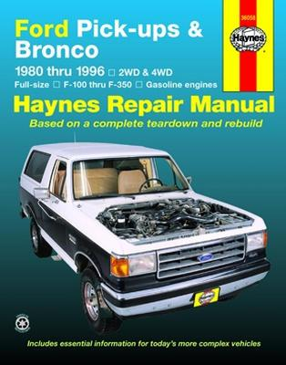 Ford Pickups And Bronco Service Manual (80-96)