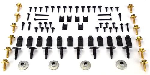 1979-85 Mustang Exterior Hardware Starter  Kit  - Picture of 1979-85 Mustang Exterior Hardware Starter  Kit This Is Some Of The Hadware Normally Needed To Assemble Fenders And Various Trim Parts To The Exterior Of 1979-1985 Mustang. Contents Are As F