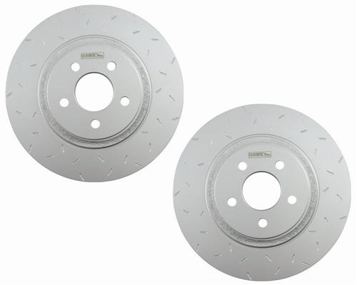 Hawk Mustang Quiet Slot Brake Rotors Front Cobra (94-04) - Picture of Hawk Mustang Quiet Slot Brake Rotors Front Cobra (94-04)