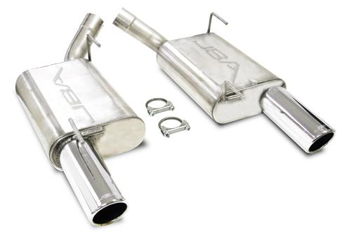 "Mustang GT/GT500 JBA Stainless Steel Axle Back with 3"" Tip (05-09)"