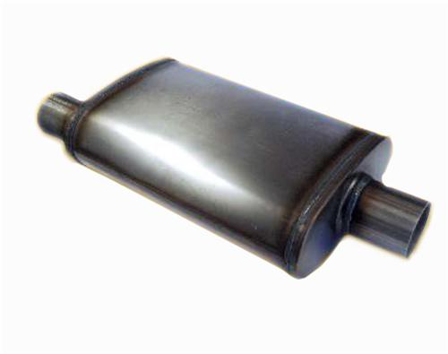"Jones Performance Muffler 2.5"" Offset Inlet/Outlet"