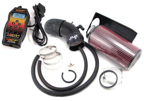 JLT F-150 SVT Lightning Big Cold Air Intake Tuner Kit w/ SCT SF3 Tuner (99-04)