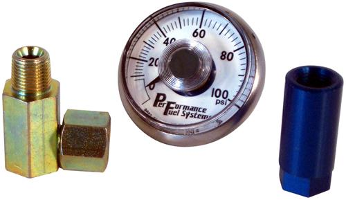 0-100 Psi Mechanical Fuel Pressure Gauge  w/ Connector