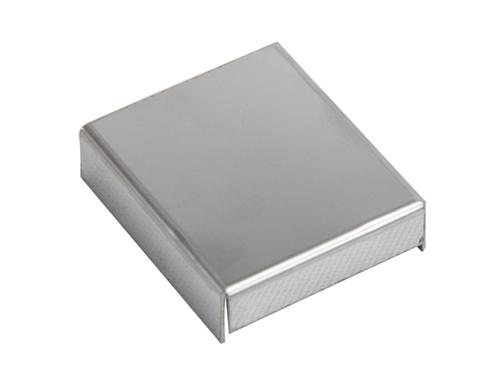 Mustang Mass Air Flow Sensor Cover Polished Stainless Steel (89-04) - Picture of Mustang Mass Air Flow Sensor Cover Polished Stainless Steel (89-04)