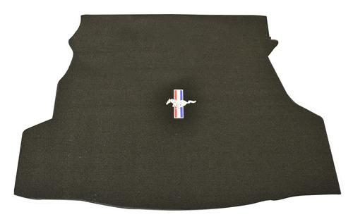Mustang Coupe Trunk Mat with Pony Logo Black (07-09)