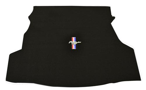 Mustang Trunk Mat w/ Pony Logo Black (07-09) Coupe