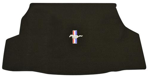 Mustang Convertible Black Trunk Mat with Pony Logo (07-09)