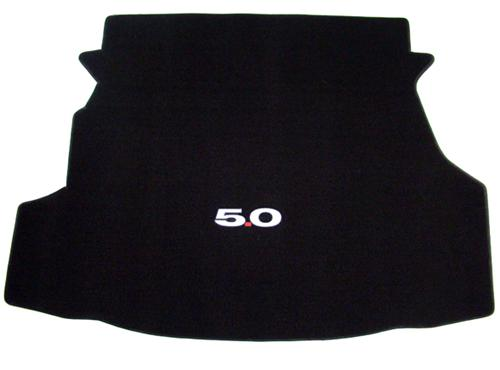 Mustang Coupe Black Trunk Mat with 5.0 Logo (11-12)
