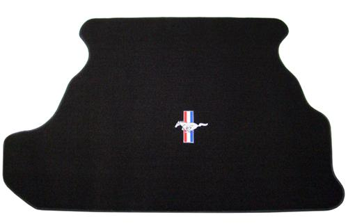 Mustang Trunk Mat w/ Pony Logo Black (87-93) Coupe