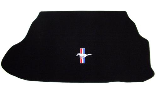Mustang Trunk Mat w/ Pony Logo Black (87-93) Convertible