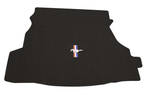 2005-06 Mustang Coupe Black Trunk Mat with Pony Logo, Without Shaker 1000 - 2005-06 Mustang Coupe Black Trunk Mat with Pony Logo, Without Shaker 1000