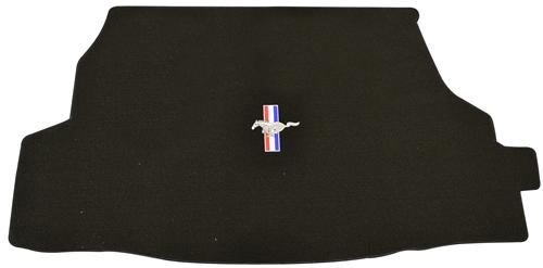 Mustang Convertible Trunk Mat with Running Pony Logo Black (05-06)