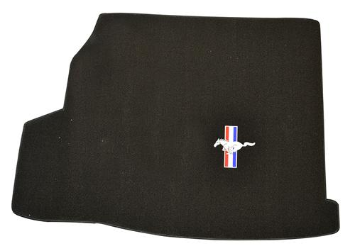 Mustang Convertible Trunk Mat with Pony Logo & Shaker 1000 Black (07-09)