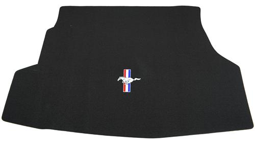 Mustang Black Trunk Mat with Pony Logo (13-14)
