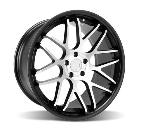 Mustang Downforce Wheel - 20x10 Matte Black w/ Machined Face (05-14) - Mustang Downforce Wheel - 20x10 Matte Black w/ Machined Face (05-14)