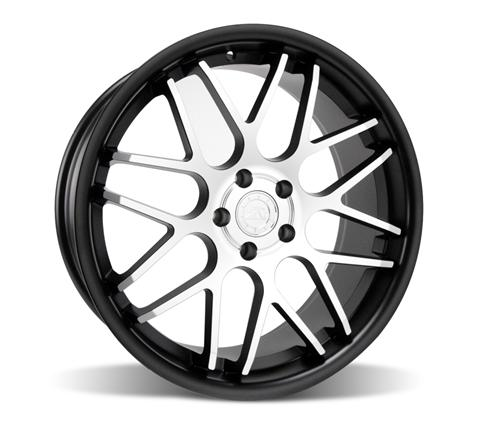 Mustang Downforce Wheel - 20x8.5 Matte Black w/ Machined Face (05-14) - Mustang Downforce Wheel - 20x8.5 Matte Black w/ Machined Face (05-14)