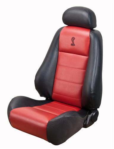 Mustang Cobra Convertible Leather Seat Upholstery with Red Leather Inserts (03-04) 10th Anniversary