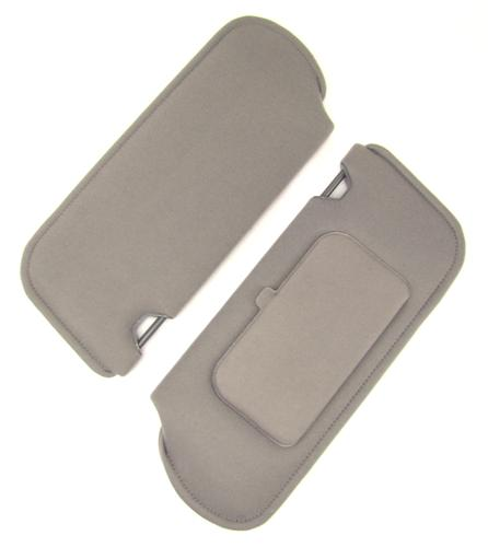 Mustang Sun Visors with Vanity Mirror Smoke Gray Cloth (87-89)